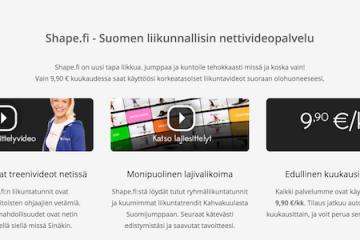 Shape.fi liikuntapalvelu painonhallinnan tueksi