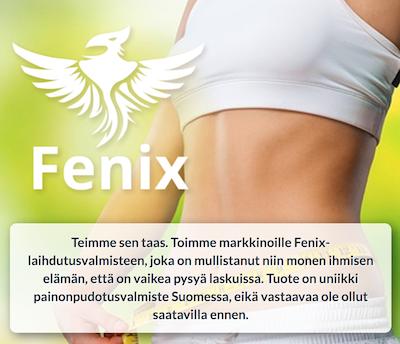 Fenix Rasvanpolttaja tehokkaaseen laihdutukseen